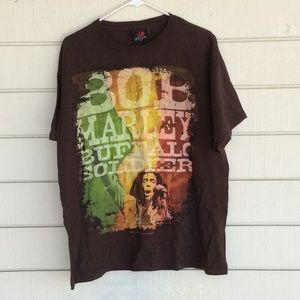 Bob Marley Buffalo Soldier Zion T Shirt Large